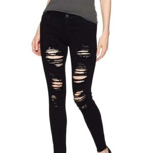 GUESS Mid Rise distressed skinny Jean